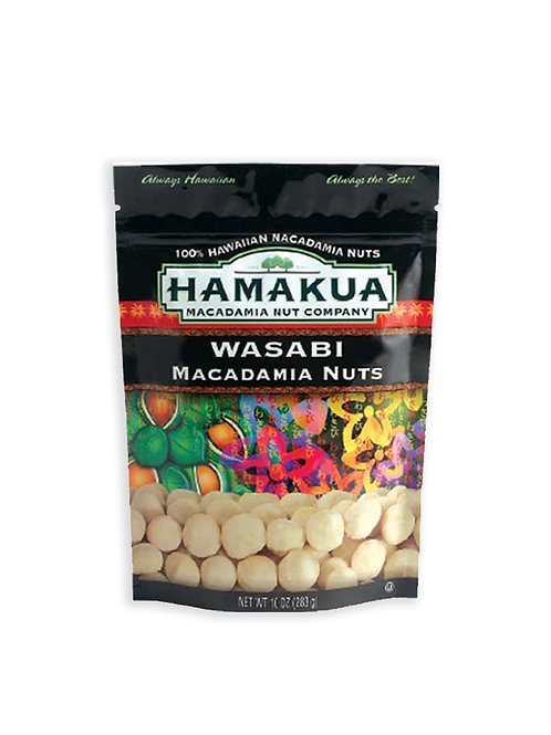 Wasabi Macadamia Nuts - Hamakua Macadamia Nut Company (10 oz)