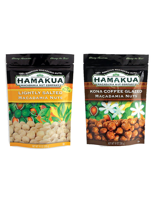 Gone Nuts - Hamakua Mac Nut Company (2 Bags: 1 Island Flavor + 1 Glazed)