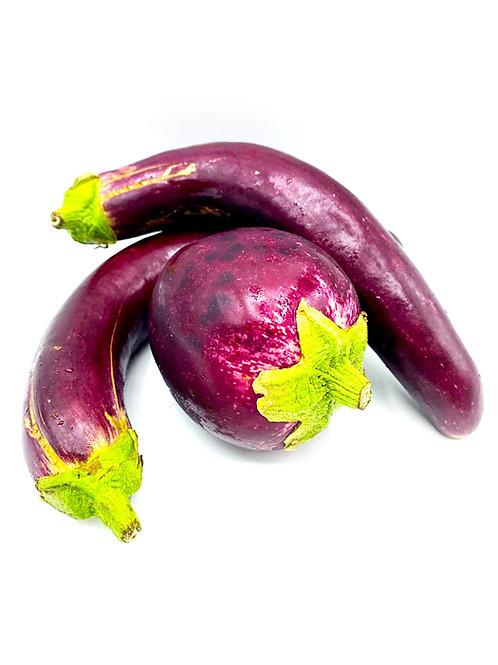 Eggplant Mix (Round & Long) - Johnson Family Farms (1 Pound)