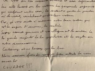 Une belle lettre d'un inconnu...