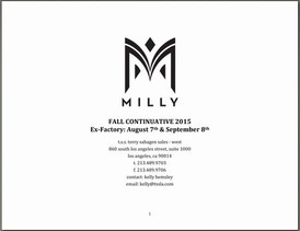 【Milly / Fall 1 2015 】情報 R'