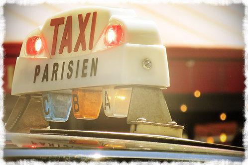 """Canvas Photo Print - """"Taxi Parisien"""""""