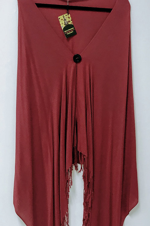Burgundy Cashmere Upcycled Wrap