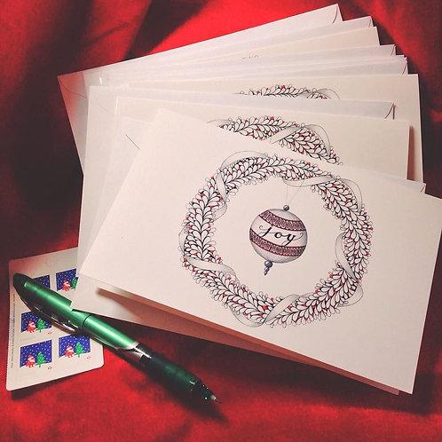 "Zentangle-Inspired Art Greeting Cards - ""Tangled Joy"""