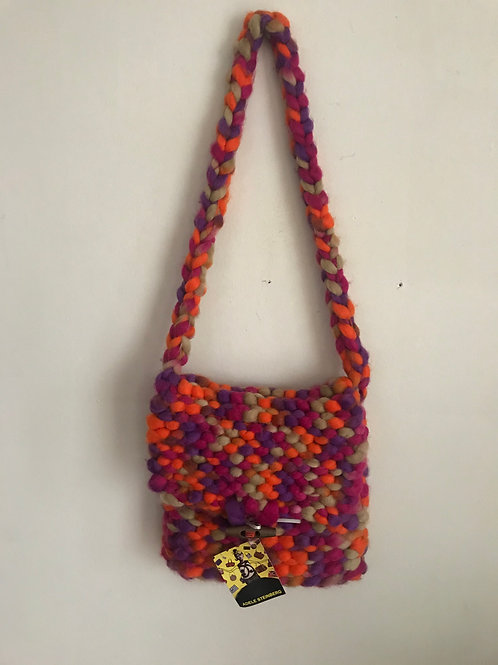 Felted Wool Knitted Purse