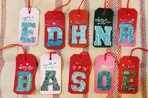 Letter Gift Tags / Christmas Tree Decorations
