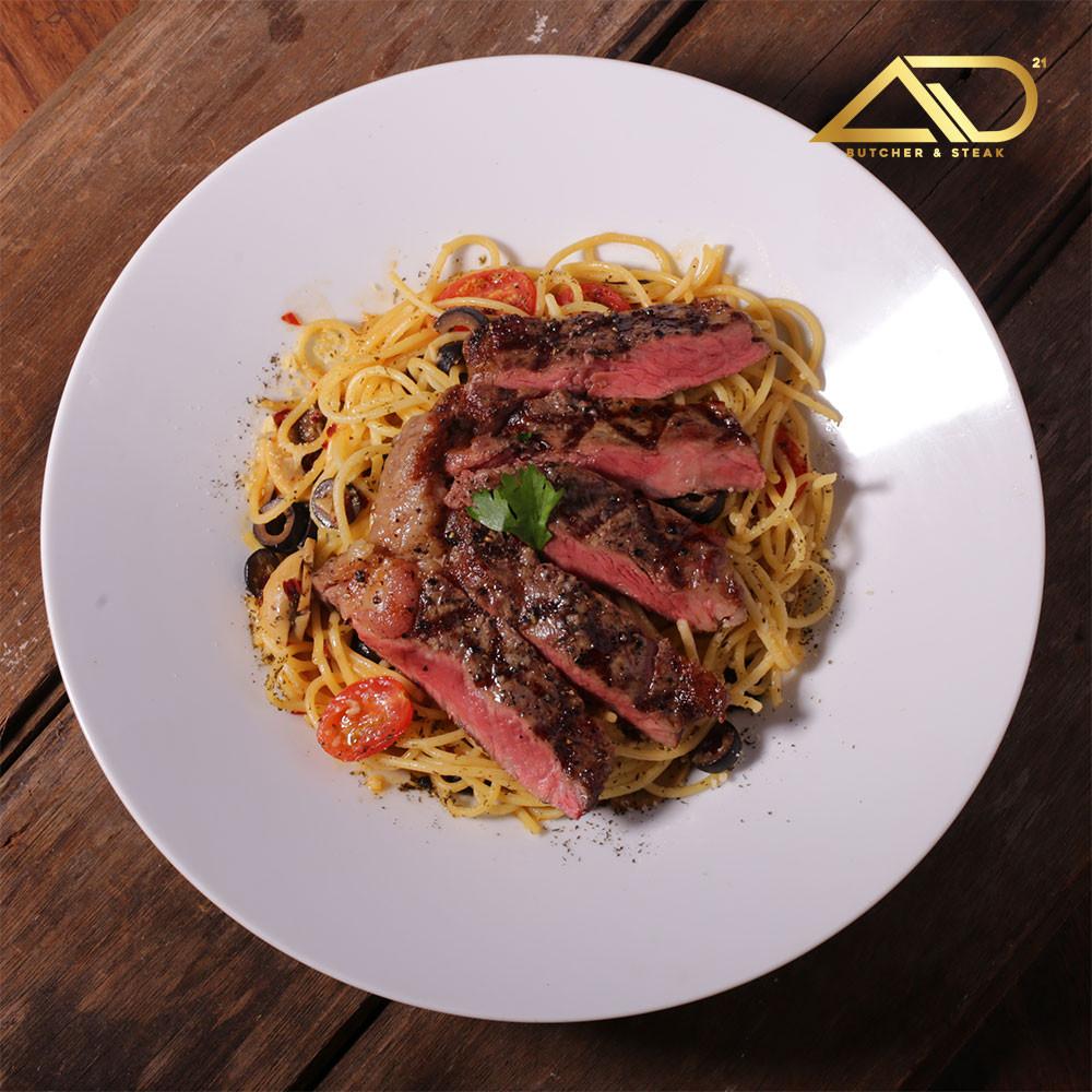 Wagyu Aglio Olio Pasta at AD Butcher & Steak