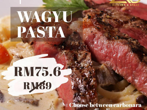 The Only Affordable Wagyu (Steak) Pasta in Klang Valley for Just RM75.6.