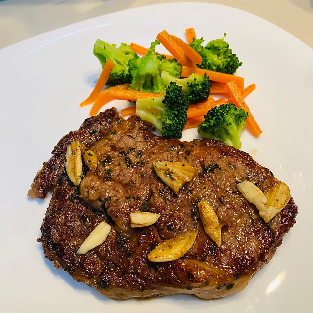 Black Angus Ribeye Steak by Regular Customer, Zahira