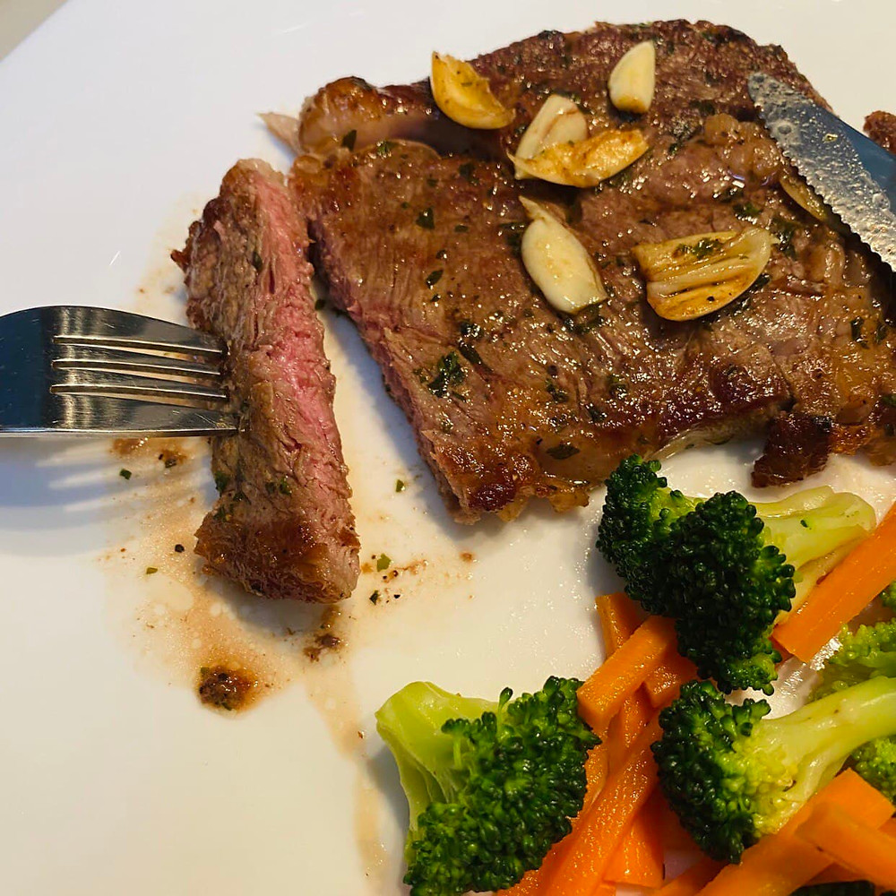 Medium Cooked Steak by Regular Customer, Zahira