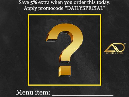 MCO New Promo: Daily Special Menu (Burger, Pasta, Steak) | AD Butcher & Steak