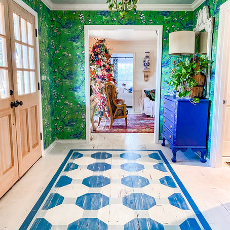 Entryway Floor ( Painted Rug)