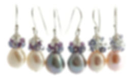 Pearl Earrings,gemstone jewellery,pearl jewellery,amethyst,tanzanite,aquamarine,luxury,British,wedding,Sarah D Smith Fine Jewellery
