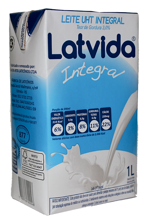 Leite Integral 1L Latvida