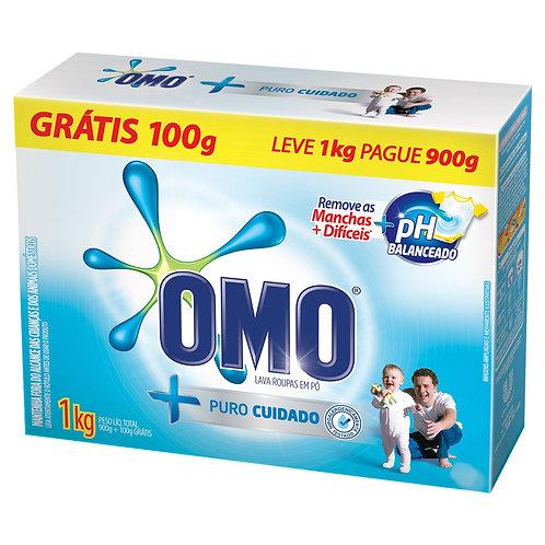Detergente em Pó OMO 1kg Puro Cuidado