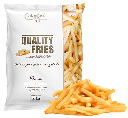 Batata Frita congelada 2Kg Quality Fries
