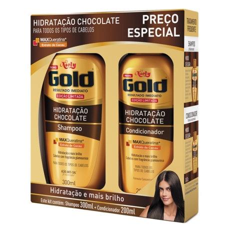 Kit Niely Gold Hidratação Chocolate