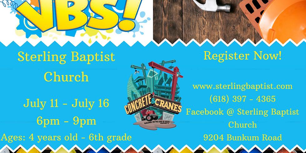 Vacation Bible School: Concrete and Cranes