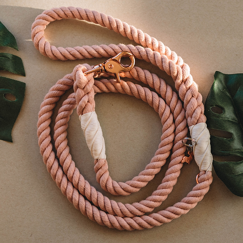 Rose All Day - Dog Rope Leash