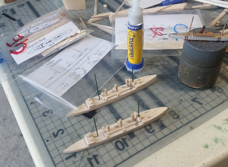 SCRATCH BUILDING 1/1500 WWI SHIPS