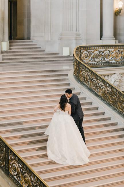 San Francico city hall wedding Blooming Wed 50