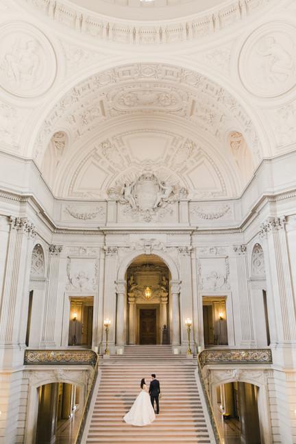 San Francico city hall wedding Blooming Wed 49