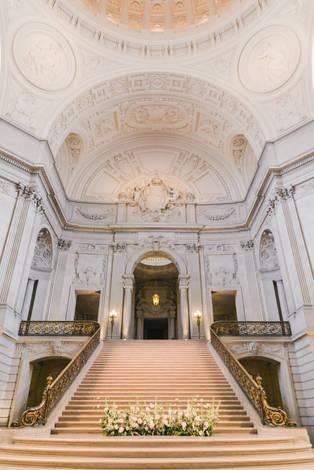 San Francico city hall wedding Blooming Wed 35