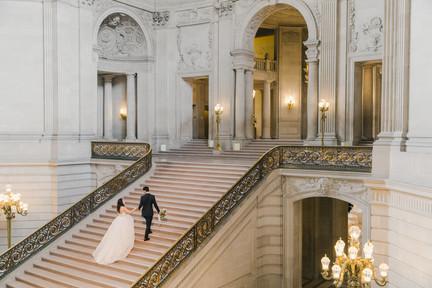 San Francico city hall wedding Blooming Wed 48