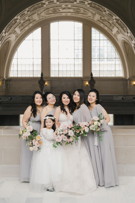 San Francico city hall wedding Blooming Wed 43