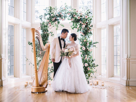 Featured on Carats and Cake: A Pink Romantic Kohl Mansion Wedding