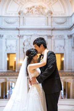San francisco city hall wedding photo1