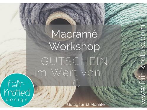 Makramee Workshop Gutschein