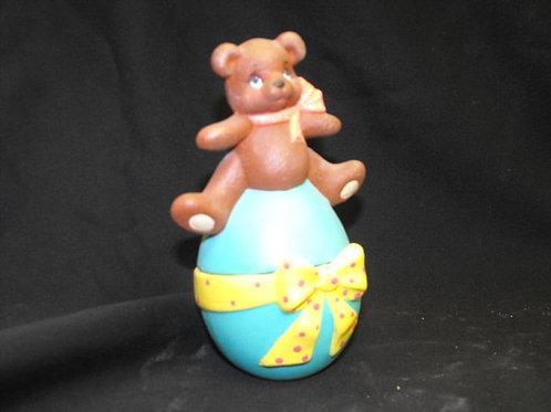 Bear Sitting on Egg Box