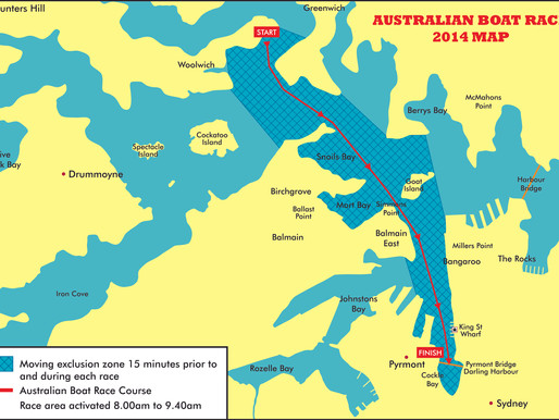 2014 AUSTRALIAN BOAT RACE COURSE  AGAIN IN SPECTACULAR HARBOUR SETTING