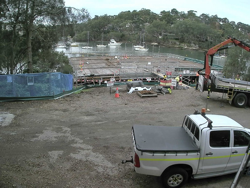 Main Deck of New SUBC Boatshed in place