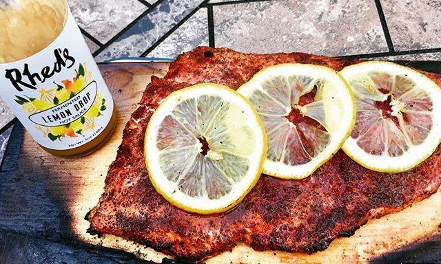 Wood Plank Lemon Drop Fish