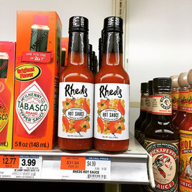 Rhed's Hot Sauce at McQuade's in Jamesto