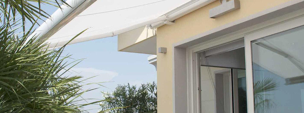 Fixed track awning