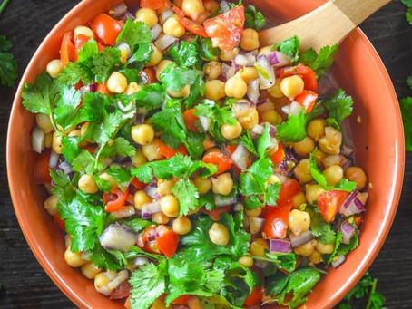 Tomato Chickpea Salad with Cilantro & Lime