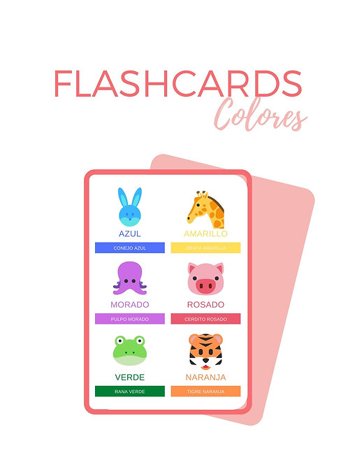 FLASHCARDS COLORES