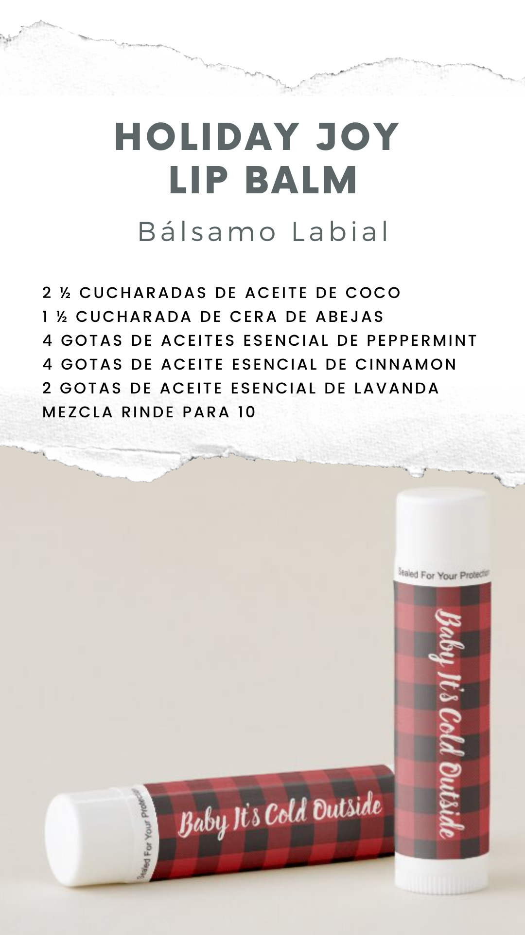 Natural essential lip balm