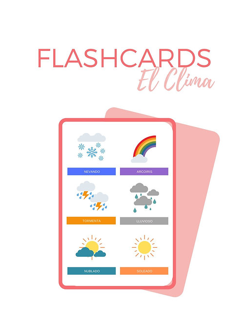 FLASHCARDS EL CLIMA