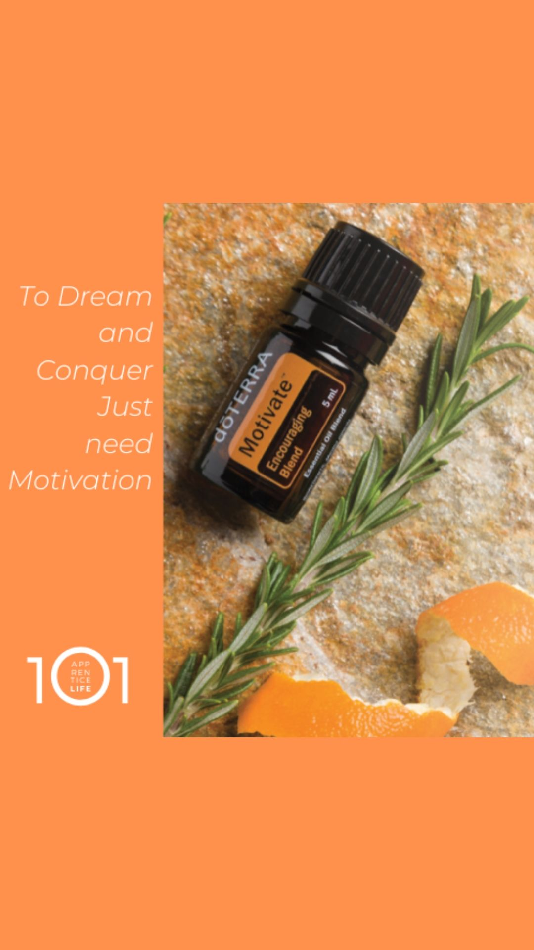 Essential Oil Motivate- conquer your dreams! need motivation? here is a special essence to look for