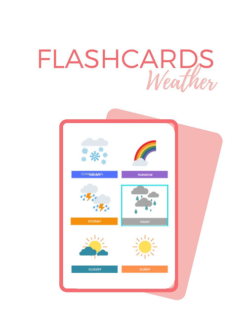 FLASHCARDS WEATHER