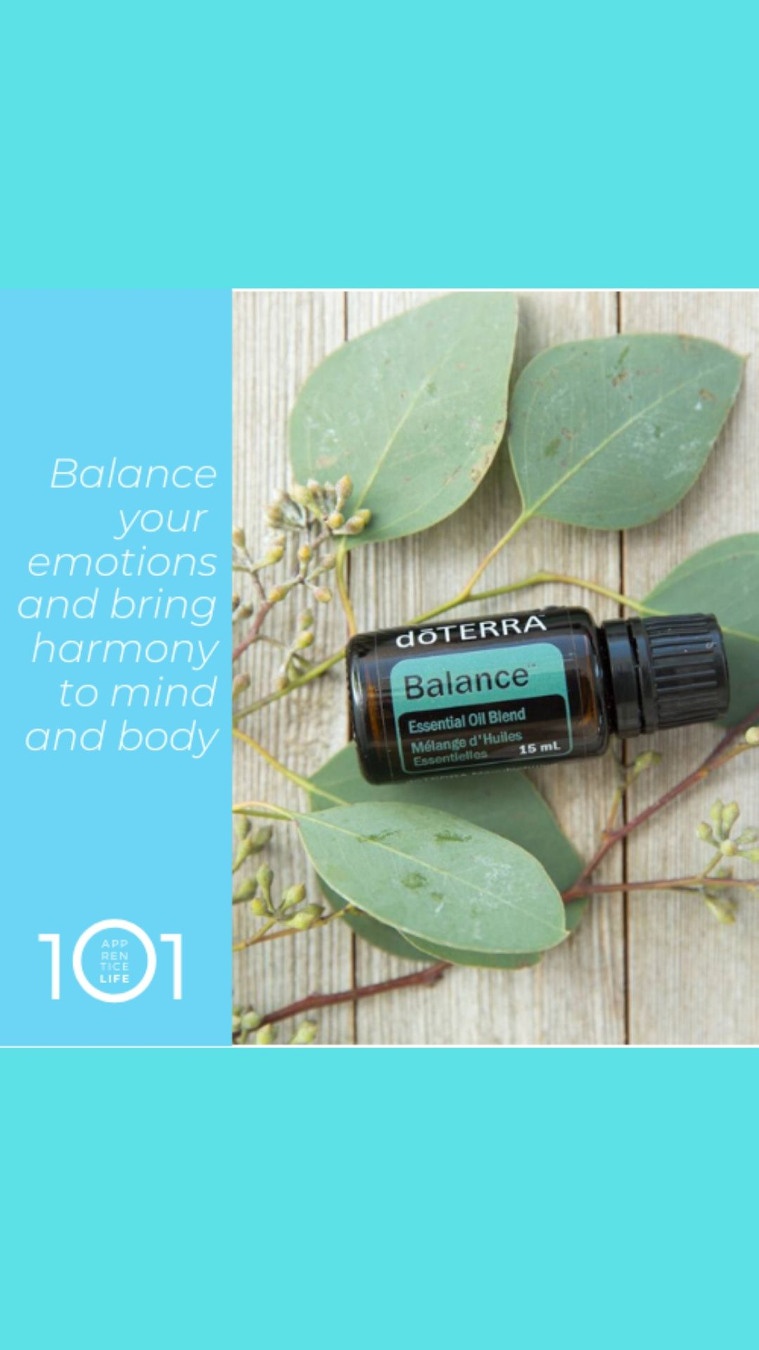 Balance Blend creates a sense of calm and well-being