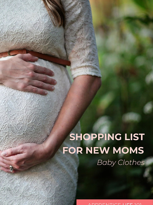 SHOPPING LIST -  MUST BABY CLOTHES