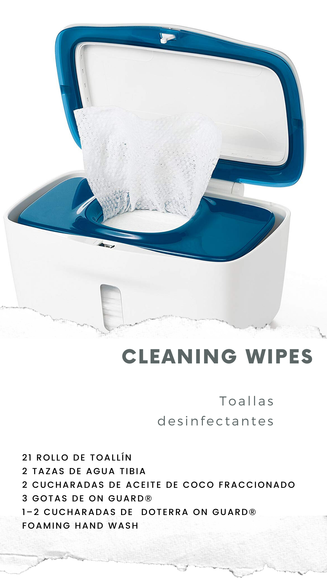 DIY Cleaning wipes with essential oils