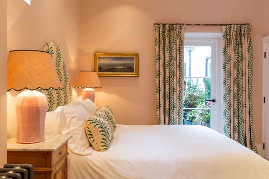 Curtains, Headboard and Cushions - Pat Giddens Ltd Interior Design - Barlow and Barlow Photographer - J Bond Photography