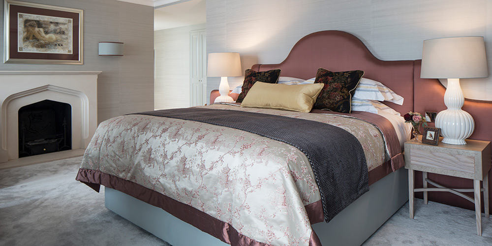Bed Throws and cushions - Pat Giddens Ltd Interior Design - Roselind Wilson Design Photographer - Richard Waite