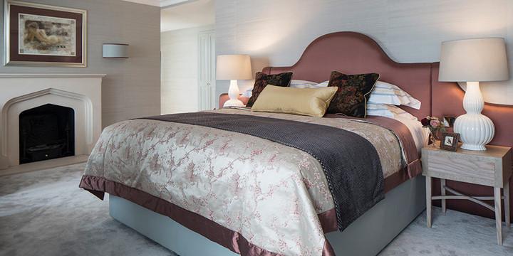 Bed Throws and cushions - Pat Giddens Ltd Interior Design - Roselind Wilson Design Photographer - Richard Waite